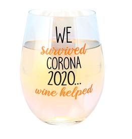 Stemless Wine We Survived Corona 2020 18 oz