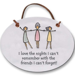 AUGUST CERAMICS Oval Plaque 3 Women: I love The Nights