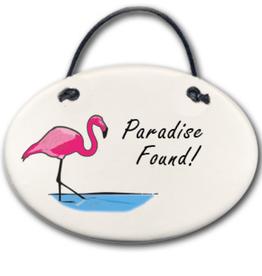 AUGUST CERAMICS Mini Disk Flamingo: Paradise Found