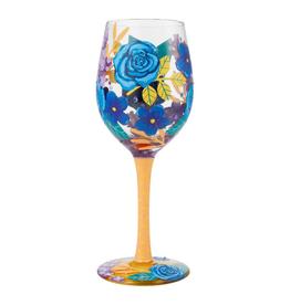 LOLITA Blue Florals WIne Glass