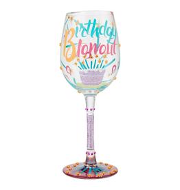 LOLITA Birthday Blowout  WIne Glass
