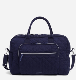 VERA BRADLEY Weekender Travel Bag Performance Twill Classic Navy