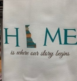 MARIASCH STUDIOS INC Huck Towel Delaware Home Is Where Our Story Begins