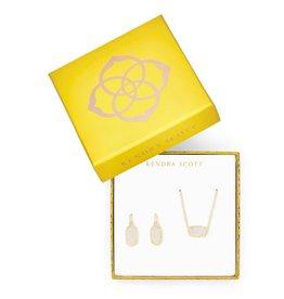 KENDRA SCOTT Elisa Satellite Necklace & Lee Earrings Gift Set In Iridescent Drusy