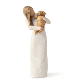 Willow Tree Figurines-Adorable You Golden Dog