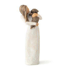Willow Tree Figurines-Adorable You Dark Dog