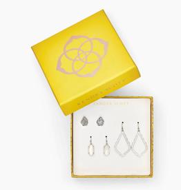 KENDRA SCOTT Tessa, Lemmi, & Sophia Earrings Gift Set In Silver