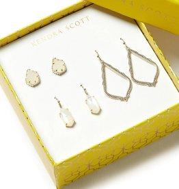 KENDRA SCOTT Tessa, Lemmi, & Sophia Earrings Gift Set In Gold