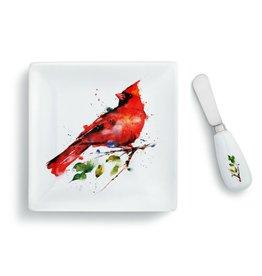 Plate and Spreader Set Cardinal