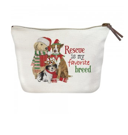 MARY LAKE THOMPSON Holiday Rescue Pets Canvas Pouch