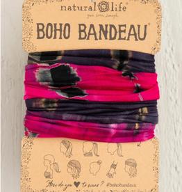 NATURAL LIFE CREATIONS Boho Bandeau Hot Pink/Grey TieDye