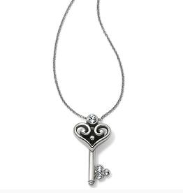BRIGHTON Alcazar Heart Key Necklace Silver