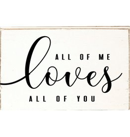 RUSTIC MARLIN Decorative Wooden Block All Of Me Loves All Of You