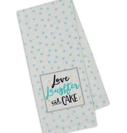 Dish Towel Love Laughter Cake
