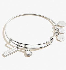 ALEX AND ANI Charm Bangle 'Woof' Duo in Shiny Silver