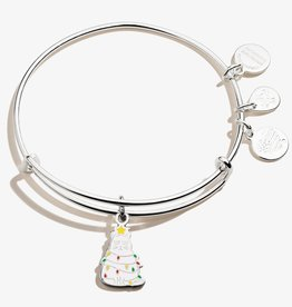 ALEX AND ANI Charm Bangle  Cat Holiday, Shiny Silver