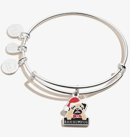 ALEX AND ANI Charm Bangle 'Bah Humpug' in Shiny Silver