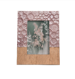 4x6 Floral Photo Frame Lilac