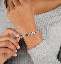 ALEX AND ANI Charm Bangle Friends, Logo Stretch Bracelet, Silver