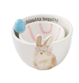 MUDPIE Brown Bunny Candy Bowl Set