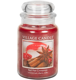 STONEWALL KITCHEN Village Candle Red Hot Cinnamon Traditions Large Jar