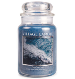 STONEWALL KITCHEN Village Candle Sea Salt Surf Traditions Large Jar