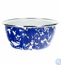 GOLDEN RABBIT II Cobalt Swirl Salad Bowl