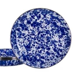 GOLDEN RABBIT II Cobalt Swirl Pasta Plate