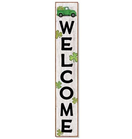 MY WORD - WAXCESSORIES - QSL Welcome- Irish Truck w/Shamrocks Porch Board 8x46.5