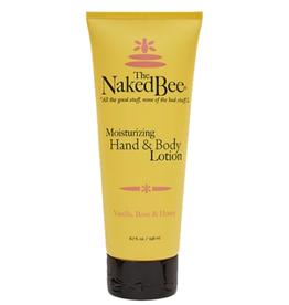 THE NAKED BEE Hand & Body Lotion Vanilla, Rose & Honey 6.7oz