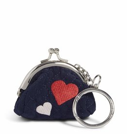 VERA BRADLEY Mini Kisslock Bag Charm : Sweet Hearts