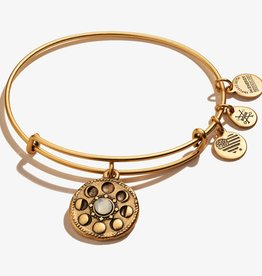 ALEX AND ANI Charm Bangle Moon Phase, Gold