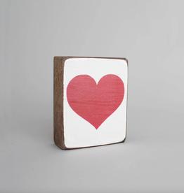 RUSTIC MARLIN Rustic Block Red Heart