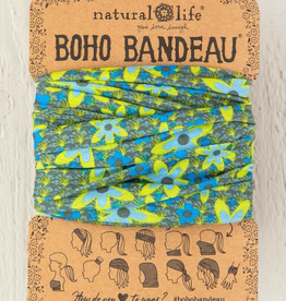 NATURAL LIFE CREATIONS Boho Bandeau Blue and Green