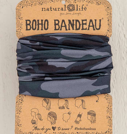 NATURAL LIFE CREATIONS Boho Bandeau Navy Camo