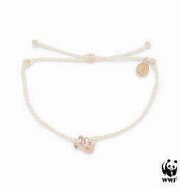 PURA VIDA Koala Rose Gold Bracelet White