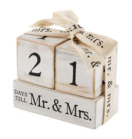 MUDPIE Countdown Block Set Mr & Mrs