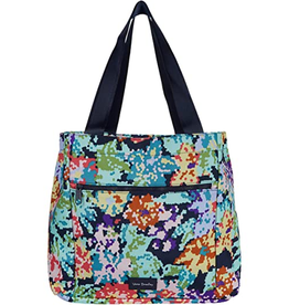 VERA BRADLEY ReActive Large Family Tote : Happy Blooms Cross-Stitch