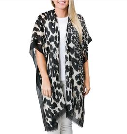TOP IT OFF Kimono Gianna Leopard