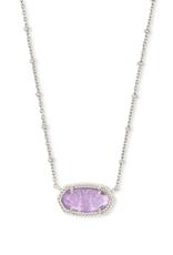 KENDRA SCOTT Elisa Satellite Pendant Necklace Rhodium Purple Amethyst