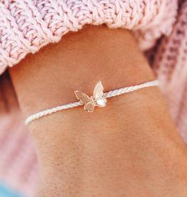 PURA VIDA Butterfly in Flight Rose Gold Bracelet Vanilla