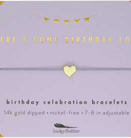 LUCKY FEATHER Birthday Celebration Bracelet Some Birthday Love