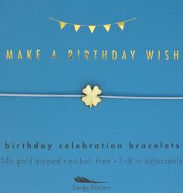 LUCKY FEATHER Birthday Celebration Bracelet Birthday Wish