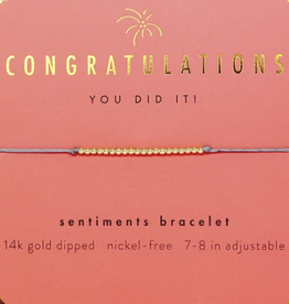 LUCKY FEATHER Sentiments Bracelet Congratulations