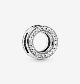PANDORA 798600C01 REFLEXIONS™ Circle of Pavé Clip Charm-Silver