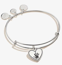 ALEX AND ANI Forever Touched My Heart Shiny Antique Silver