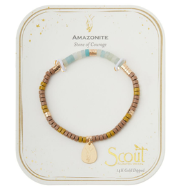 SCOUT CURATED WEARS Stone of Courage Charm Bracelet Amazonite/Gold