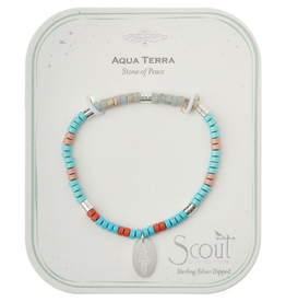 SCOUT CURATED WEARS Stone of Peace Charm Bracelet Aqua Terra/Silver