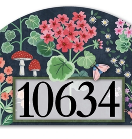 Geranium Welcome  Magnetic Yard Sign