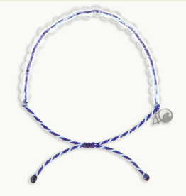 4OCEAN Beaded Bracelet Harp Seal Purple/Light Blue